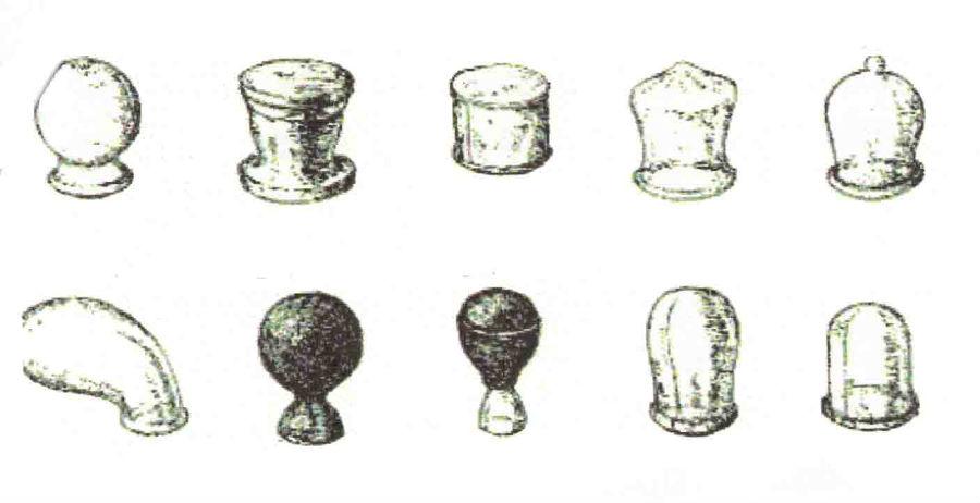 différentes sortes de ventouses à l`ancienne
